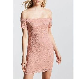 Forever 21 Lace off-the-shoulder Bodycon Dress